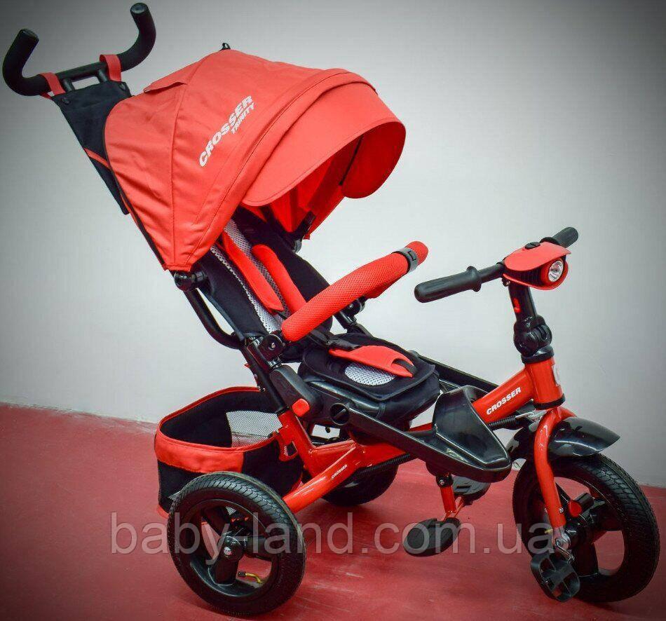 Велосипед-коляска детский трехколесный T-400 TRINITY AIR Красный