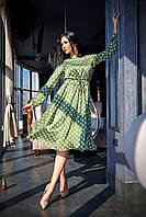 Красивое молодежное нарядное платье в горошек