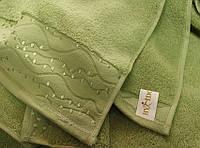ТМ TAG Полотенце махровое ByIdo зеленое 50х90