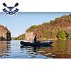 Двухместная байдарка надувная Ладья ЛБ-380Н2 Базовая Рыбацкая надувной каяк Ладья рыболовный байдарка рыбацкая, фото 5