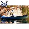 Двухместная байдарка надувная Ладья ЛБ-380Н2 Базовая Рыбацкая надувной каяк Ладья рыболовный байдарка рыбацкая, фото 6