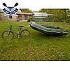 Прицеп для лодки пвх до 100 кг быстросъемный ВЕЛО прицеп для перевозки лодки на подседельную трубу велосипеда, фото 2
