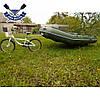 Прицеп для лодки пвх до 100 кг быстросъемный ВЕЛО прицеп для перевозки лодки на подседельную трубу велосипеда, фото 8