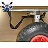 Тележка для лодок до 170 кг Univ-Poly тележка колеса для лодки надувной проколобезопасные, клиренс 30 см, фото 9