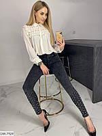 Модные весенние джеггинсы с бусинами арт 518