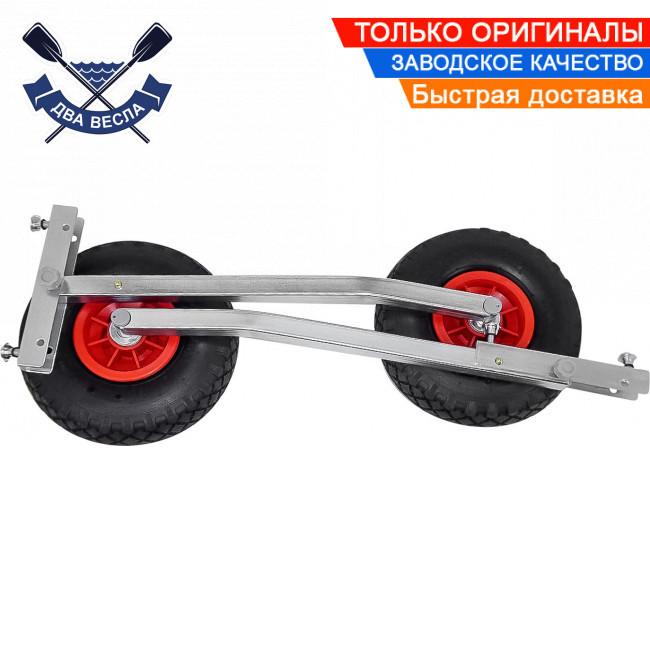 Автоматические транцевые колеса КТ-500 для лодки с НДНД до 170 кг, пневматика, регулировка дорожного просвета