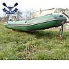 Носовая тележка для лодок опорное колесо до 150 кг тележка колеса для лодки надувной фиксация пружинный шплинт, фото 2