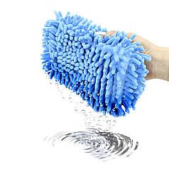 Автомобильная губка для мытья машины Lesko 11*23*5.5 см Blue с впитывающим эффектом мойка авто