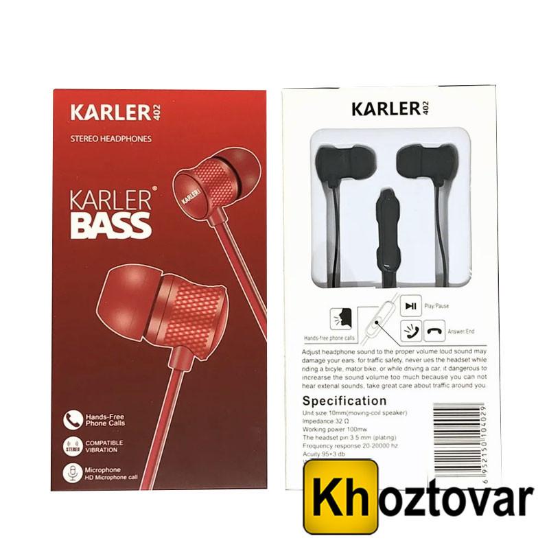 Вакуумные наушники Karler KR-402