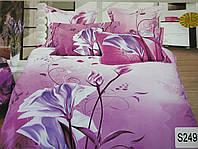 Сатиновое постельное белье евро 3D ELWAY S249