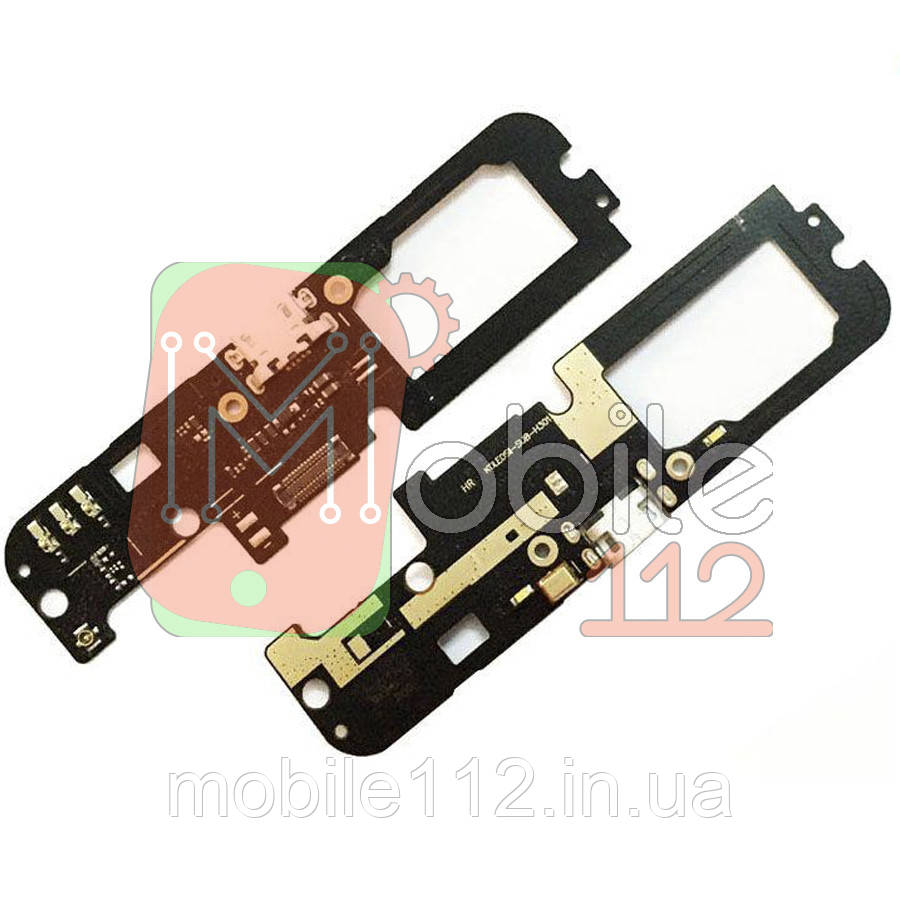 Шлейф Lenovo K5 Note A7020a40 з роз'ємом зарядки і мікрофоном - нижня плата