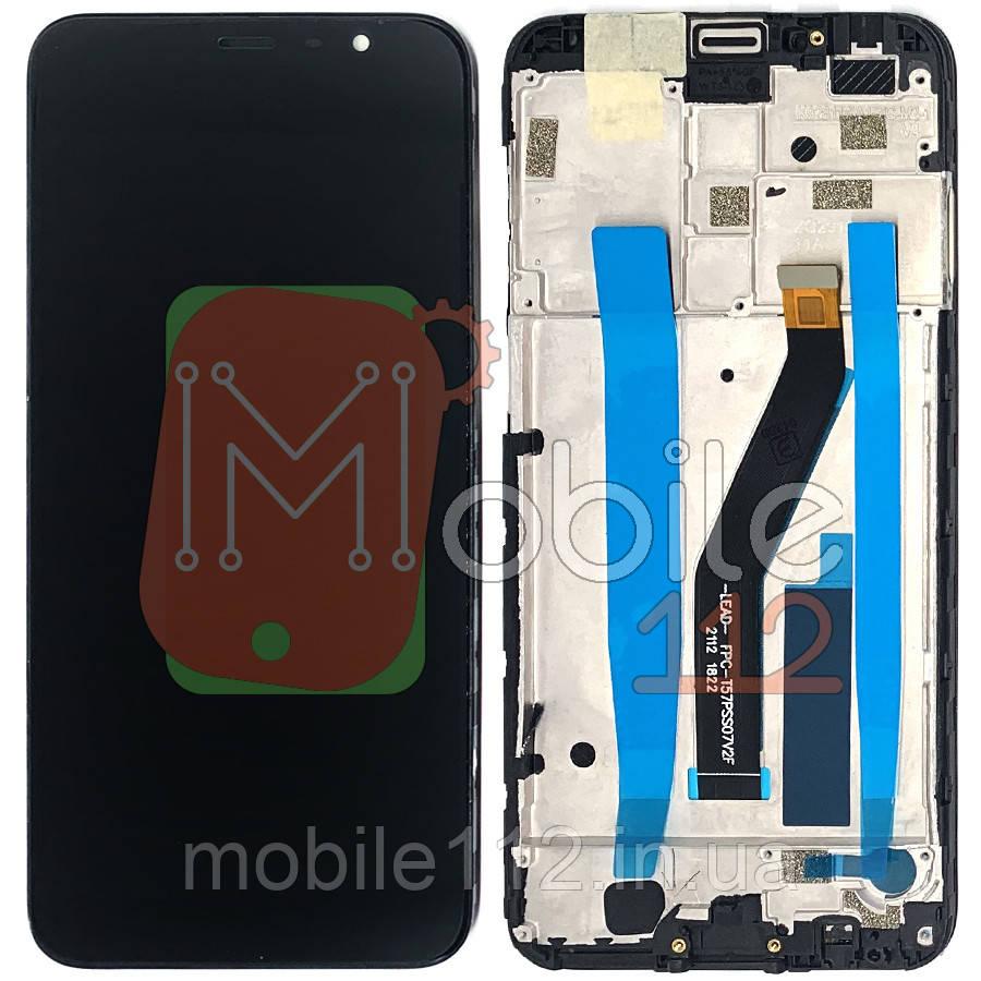 Экран (дисплей) Meizu M6T M811H + тачскрин черный с передней панелью