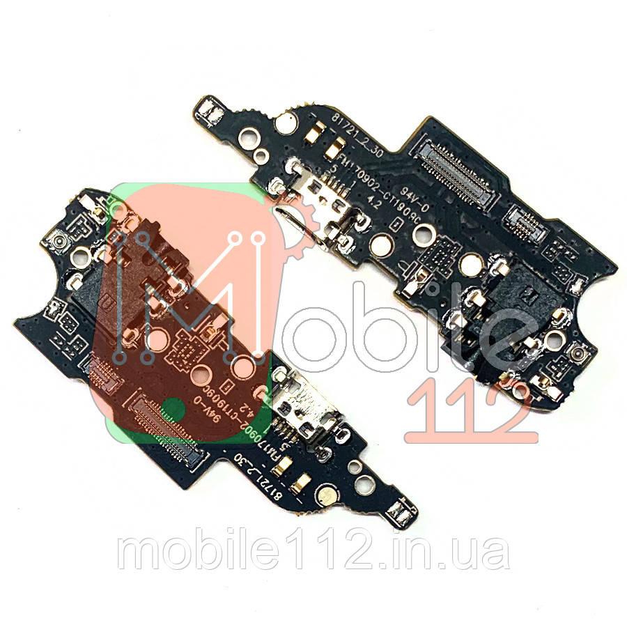 Шлейф Meizu M6 Note M721H с разъемом зарядки и микрофоном - нижняя плата