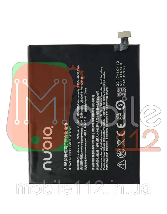 Аккумулятор (АКБ батарея) ZTE Li3829T44P6h806435 оригинал Китай Nubia Z11 NX531J 3000 mAh