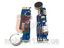 Шлейф Meizu M2 Note з роз'ємом зарядки, мікрофоном і вібро оригінал Китай - нижня плата
