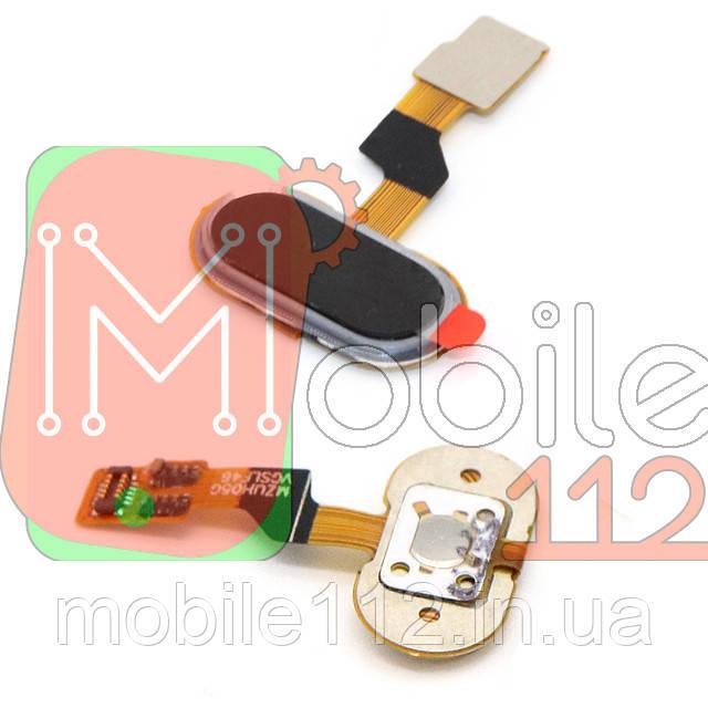 Шлейф Meizu M3S Y685, U10 U680H с кнопкой меню Home черная