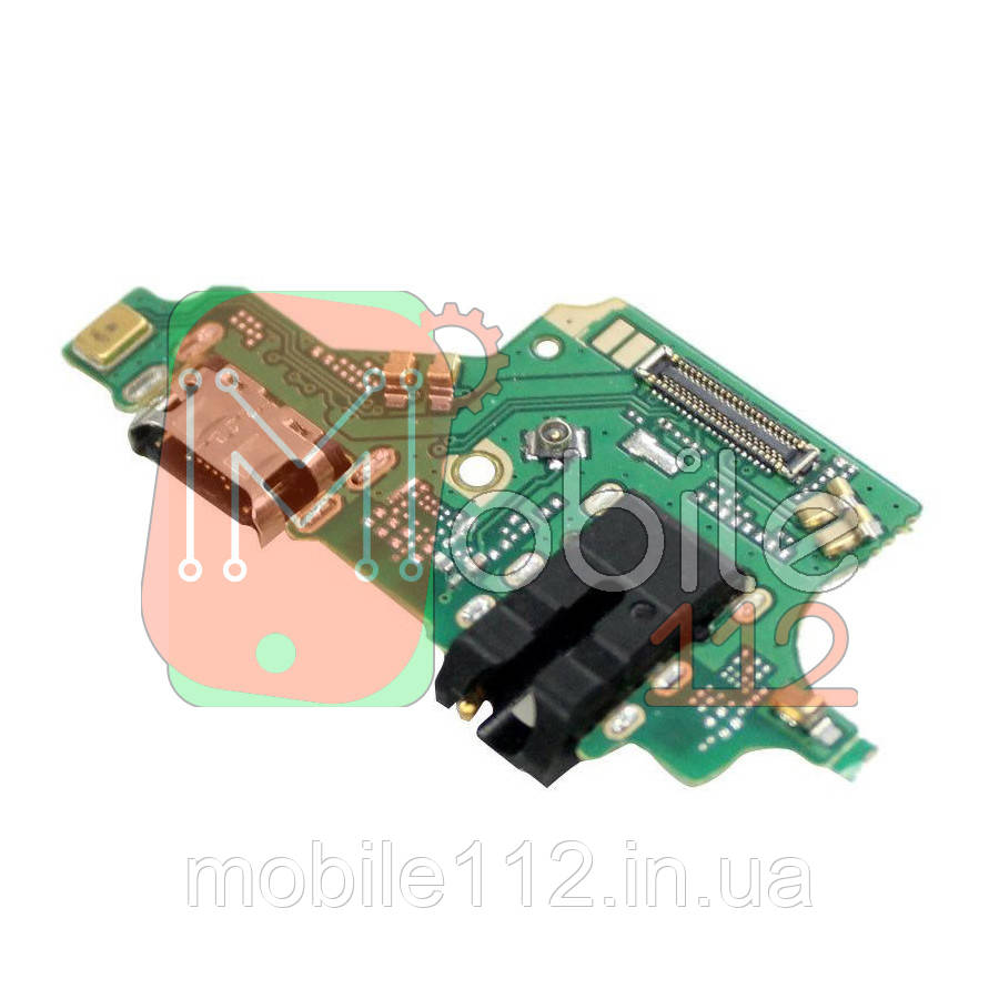 Шлейф  Huawei P20 Lite ANE-L21 Nova 3e с разъемом зарядки Тип-C, разъемом наушников и микрофоном - нижняя плата