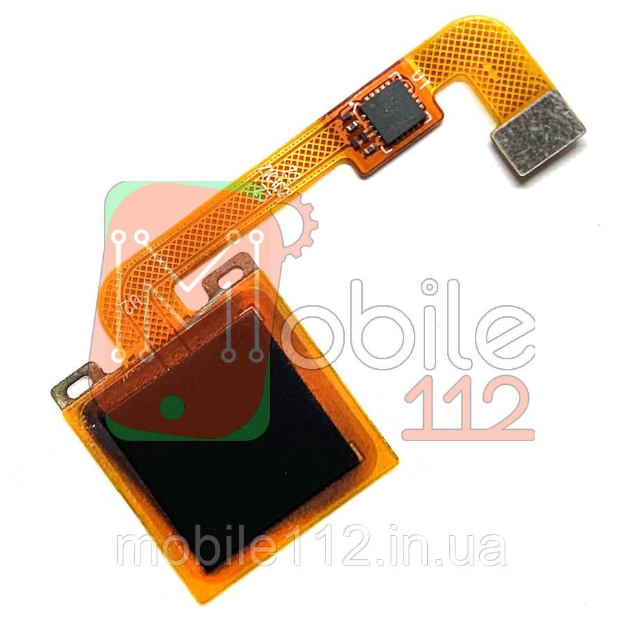 Шлейф Xiaomi Redmi Note 4X, Note 4 Global со сканером отпечатка пальца черного цвета