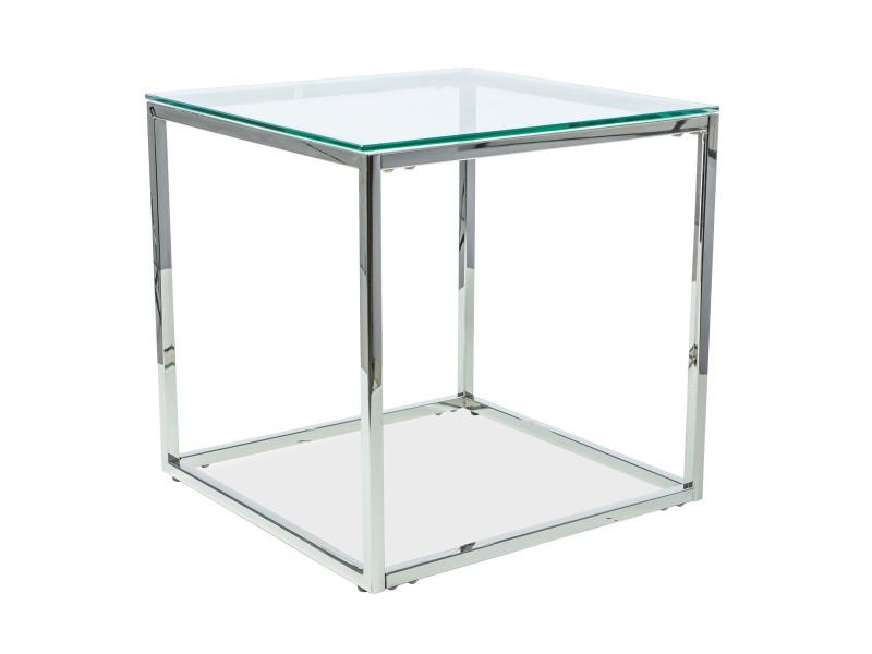 Журнальный стол HILTON B прозрачный 55X55 (Signal)