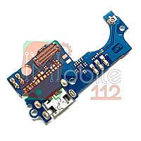 Шлейф  ZTE A510 Blade с разъемом зарядки и микрофоном - нижняя плата