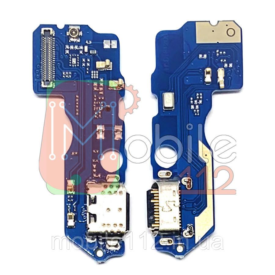 Шлейф Meizu X8 M852H з роз'ємом зарядки і мікрофоном - нижня плата