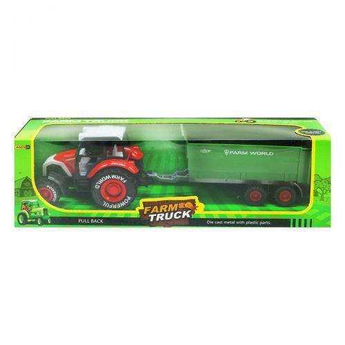 """Трактор """"Farm Truck"""" с прицепом (красный) MIC sv-174 ( TC128043)"""