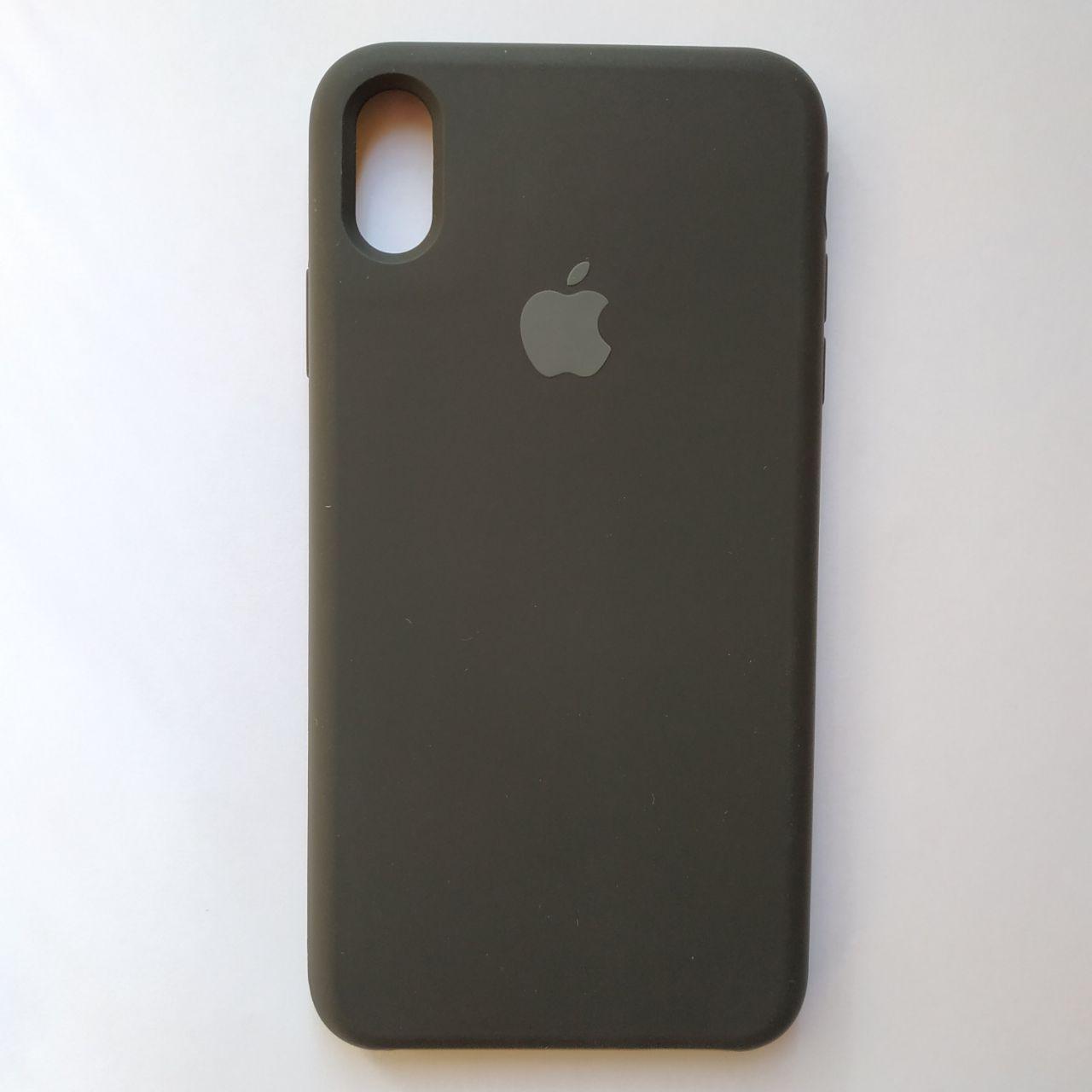 Чехол Silicone Case для Apple iPhone XS Max Black