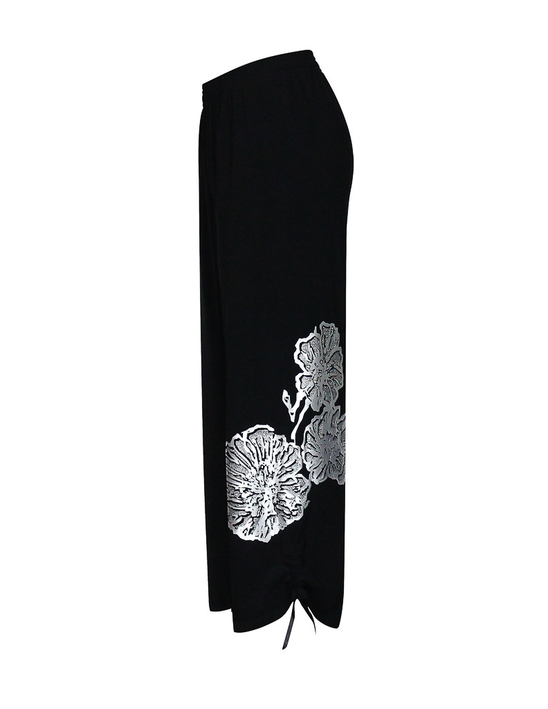 Черные брюки капри Маки