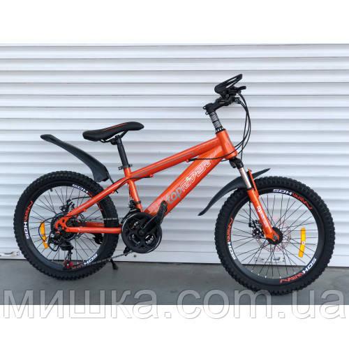 """Велосипед детский TopRider 509 20"""", дисковые тормоза, оранжевый"""