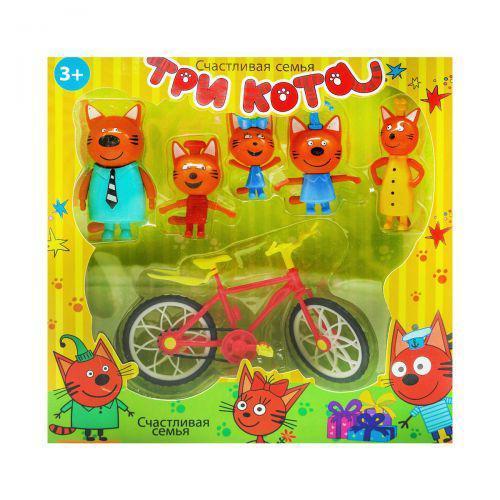 """Набор фигурок """"Три кота: Велопрогулка"""" 7Toys E117 ( TC126906)"""