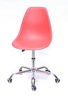 Офисное кресло, стул в офис, стул на колесиках пластиковое сиденье с хромированным основанием Nik Office