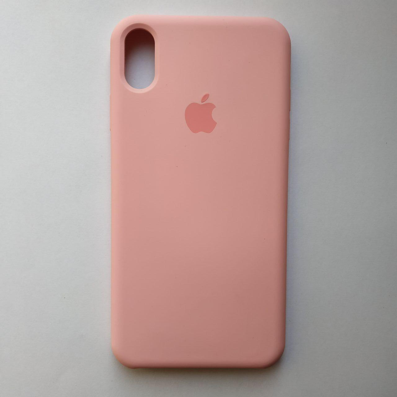 Чехол Silicone Case для Apple iPhone XS Max Rose Pink