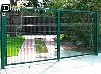Ворота из сварной сетки 4 м х 2 м с полимерным покрытием для 3Д заборов