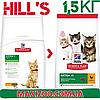 Корм Хілс Кіттен Чікен Hills Kitten Chicken для кошенят з куркою 1.5 кг