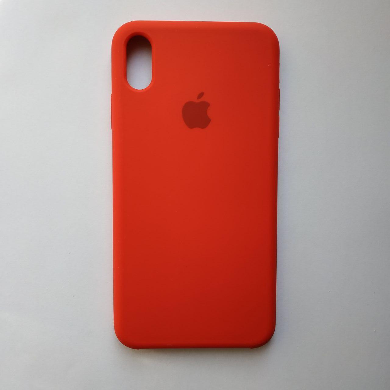 Чехол Silicone Case для Apple iPhone XS Max Red