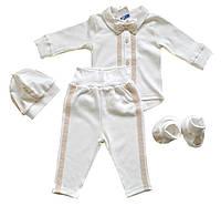 Трикотажный комплект крестильный для мальчика/ Трикотажний комплект для хрещення хлопчика