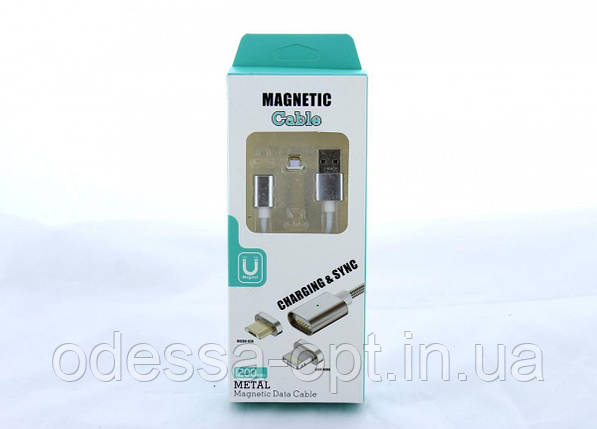 Шнур для моб. magneti lightning магнитный IP AR 50 (250) / 25шт. в уп, фото 2