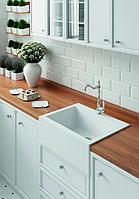 Кухонні накладна гранітна мийка 490 мм х 635 мм х 220 мм (білий)