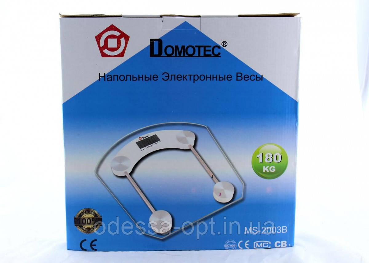 Напольные весы Domotec ACS MS 2003B 180 кг. квадратные с датчиком температуры воздуха