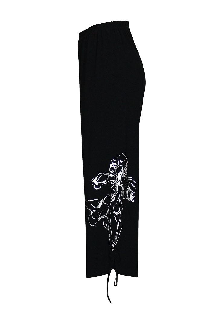 Женские брюки капри большого размера на резинке Ирисы