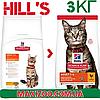 Корм Хіллс Адалт Чікен Hills Adult Care Chicken для дорослих котів з куркою 3 кг
