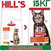 Корм Хіллс Адалт Чікен Hills Adult Care Chicken для дорослих котів з куркою 15 кг