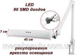 Лампа светодиодная с креплением к столу с регулировкой яркости освещения. мод. 8017 LED