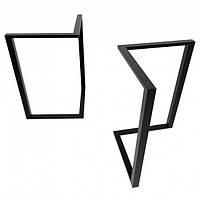 Металлические черные ножки для стола в кафе N45 подстолье из металла, фото 1