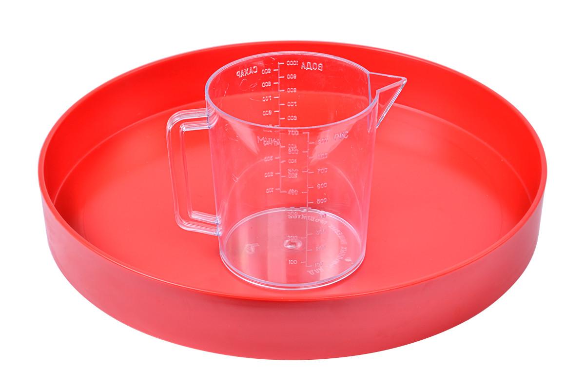 Кружка мерная пластиковая 1л (полистирол)