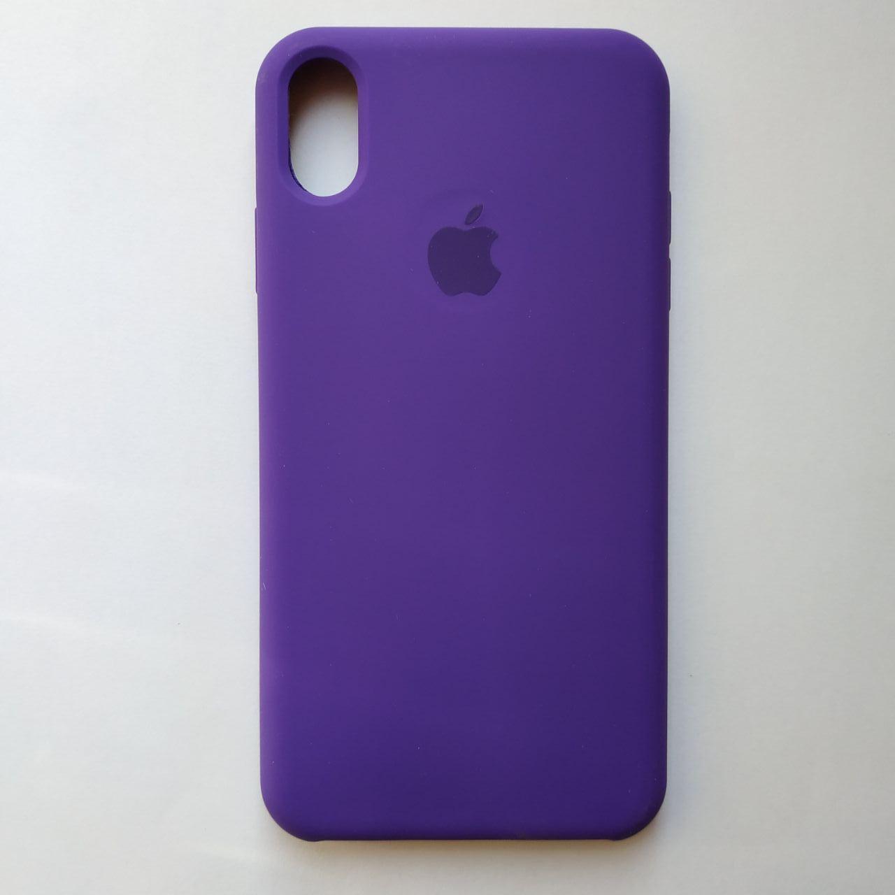 Чехол-накладка Silicone Case для Apple iPhone XS Max Ultra Violet