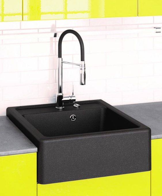 Кухонная накладная гранитная мойка Marmorin EWIT, 515103 (черный)