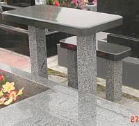 Стол и лавка лесное 100х55х5