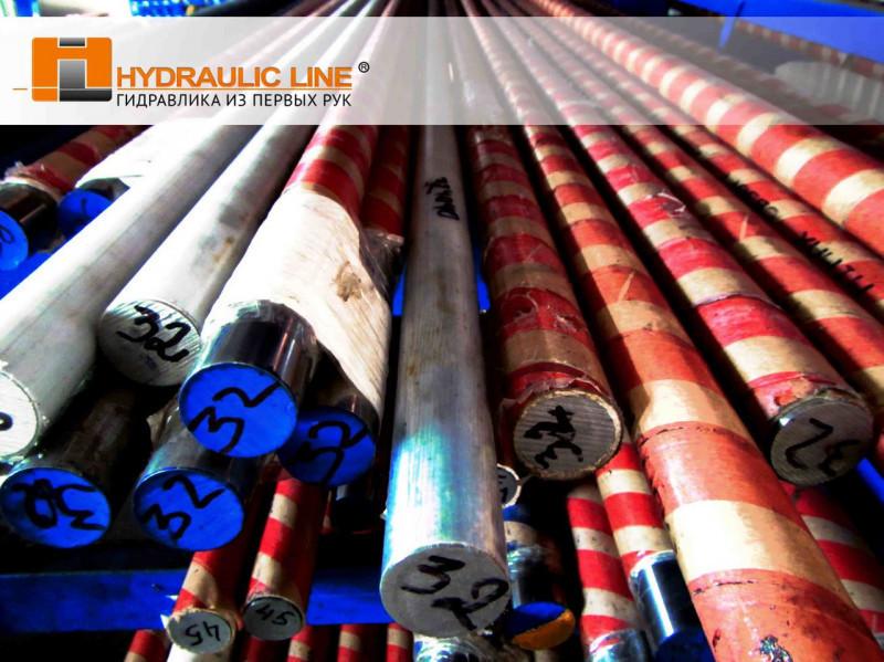 Штоки гидравлические сырые диаметром 56 мм