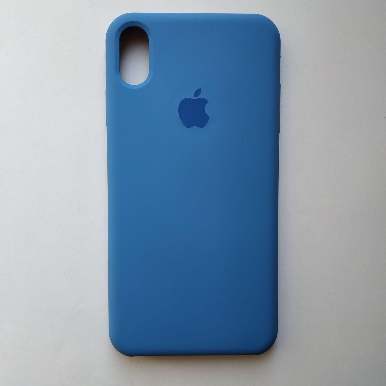 Накладка Silicone Case для Apple iPhone XS Max Vivid blue